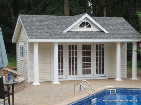 pool shed 14 x 18 classic a frame poolhouse vinyl siding