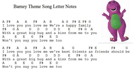 row row your boat tin whistle barney theme song i love you sheet music and tin whistle