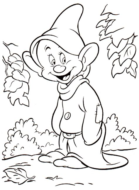 Snow White And The Seven Dwarfs Coloring Pages Free Coloring Pages Of Sneezy
