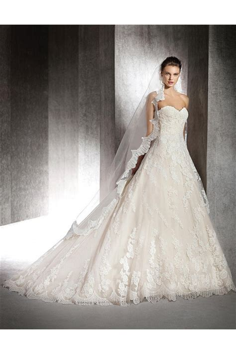 Wedding Dresses On by Royal Gown Strapless Sweetheart Vintage Lace Wedding