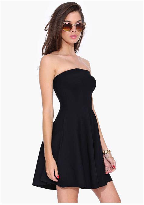 Clq Dress Mini Black aliexpress buy 2015 black sheath strapless mini ruffle dress summer
