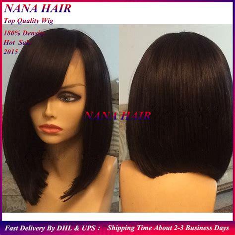 Wig Bob Premium Poni Sing cheap 6a top quality bobo wigs black synthetic hair