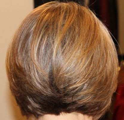 pic of front back of fluffy bob hairstyles in platium dark golder blonde 17 best ideas about stacked bobs on pinterest longer