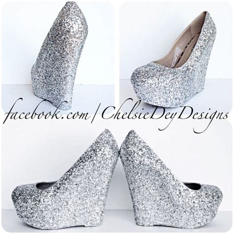 Sparkly Wedges For Wedding by 1000 Ideas About Homecoming Shoes Silver On