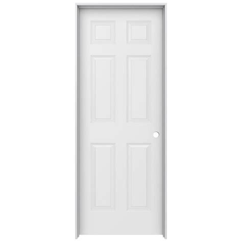Home Depot 6 Panel Interior Door Jeld Wen 30 In X 80 In Woodgrain 6 Panel Solid Primed Molded Composite Single Prehung