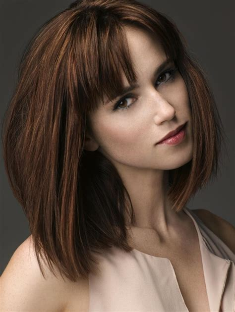 haircuts blunt bangs 10 trendy ideas for medium hairstyles with bangs popular