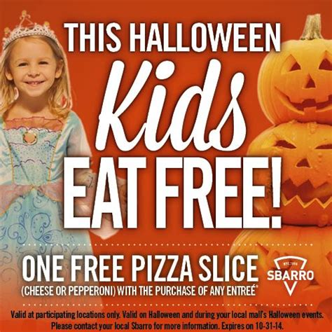 olive garden coupons halloween sbarro kids eat free on halloween with costume mama
