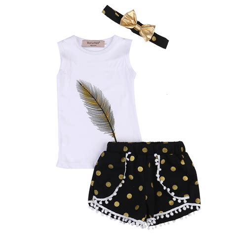 Shirt Set 3pcs Set Toddler Clothes 2017 Summer Sleeveless