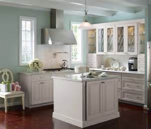 Light Blue Kitchen Cabinets Martha Stewart Skyland Kitchen Kitchens Grey Cabinets Grey And Painted Walls