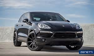 Porsche Cayenne Wheels Zenetti Wheels Esquire Satin Black Porsche Cayenne