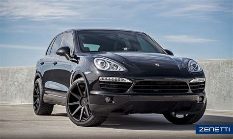porsche black rims zenetti wheels esquire satin black porsche cayenne