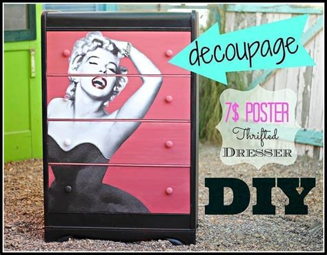 Decoupage Poster To Wood - diy decoupage dresser 183 how to make a dressing table 183