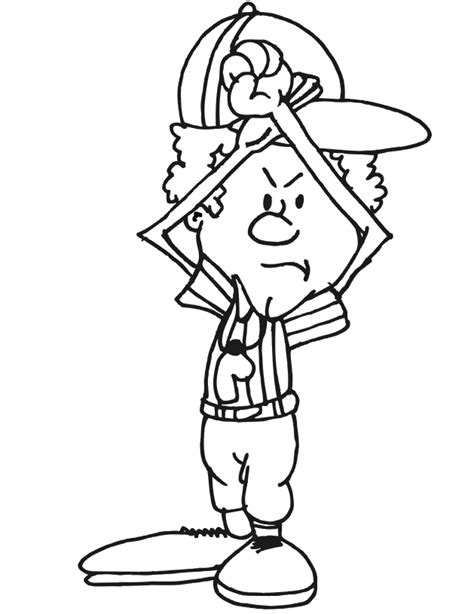 football referee coloring page football coloring picture referee time out pose