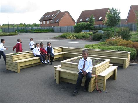 school playground benches benefits planter benches bring to your playground