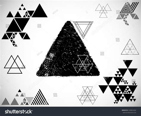 triangle layout vector abstract geometric background many different triangles