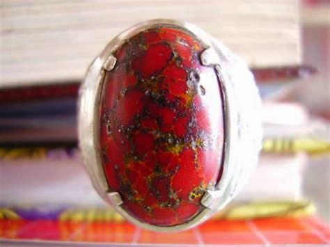 Cincin Lingkaran Warna Emas batu pirus merah batu permata