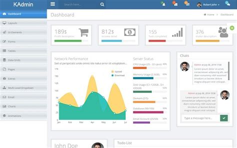 Kadmin Free Responsive Admin Dashboard Template Themifycloud Html Dashboard Template