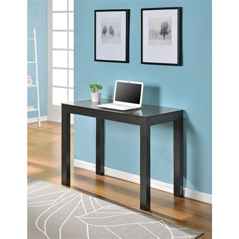 Small Parsons Desk Ameriwood Parsons Desk With Drawer In Espresso 9178696 The Home Depot