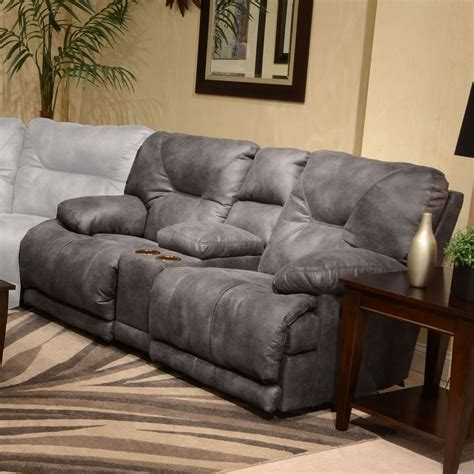 catnapper sectionals voyager power lay flat reclining console loveseat slate