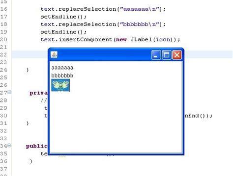 import javax swing imageicon handfeel java jtextpane test