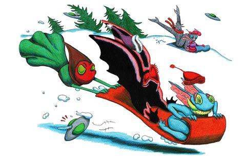 doodle succubus sledding by nocturnalsea on deviantart