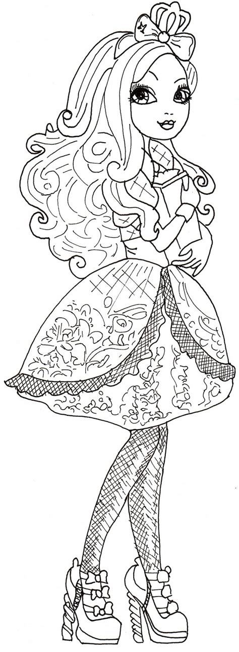 Coloring Pages Of Apple White | all about ever after high dolls apple white coloring pages