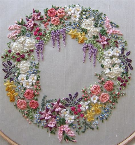 Ribbon Embroidery Flower Garden 1000 Ideas About Silk Ribbon On Silk Ribbon Embroidery Ribbons And Embroidery