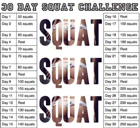 50 day squat challenge chart helen pockett