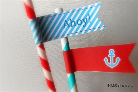 party boat flags nautical party printable party flags my party design