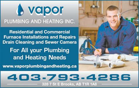 Ads Plumbing And Heating by Vapor Plumbing And Heating Ab 328 7 St E