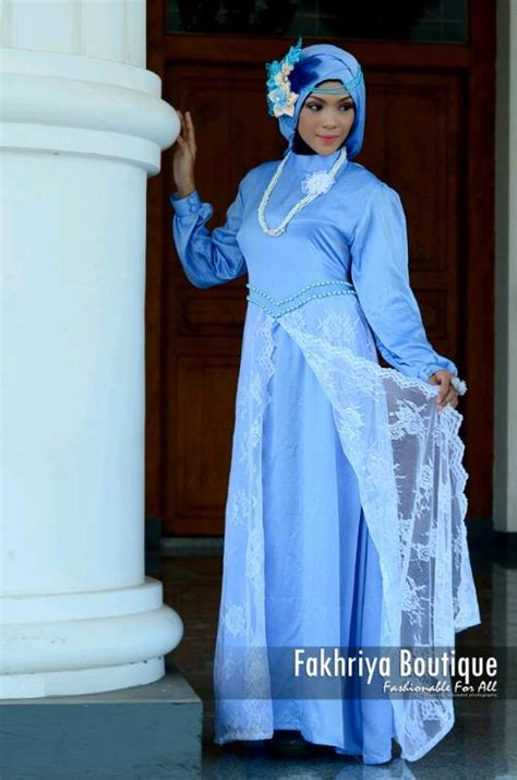 Syakira Syar I syakira biru langit baju muslim gamis modern