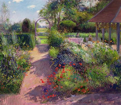 garden paintings morning in the garden by timothy easton