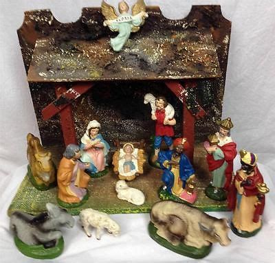 vintage 19 piece nativity set from italy 17 best images about vintage nativity on vintage sheep and 1950s