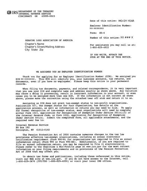 Irs Ss4 Letter