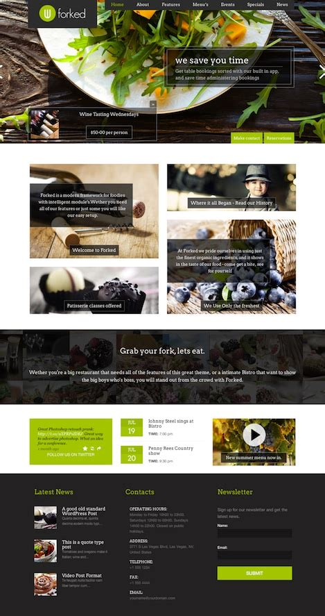 making theme responsive cost to create a bistro website with restaurant wordpress