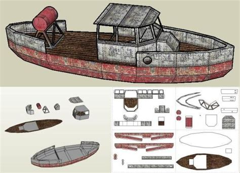 cardboard model boat template papermau bootlegger boat paper model by papermau some