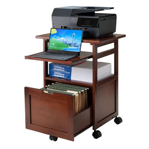 mobile printer stand with drawers piper portable work cart printer stand with pull out key