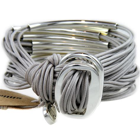 Gillian Julius Multi Tube Bracelet Silver Ice Grey   RB2S IGRY