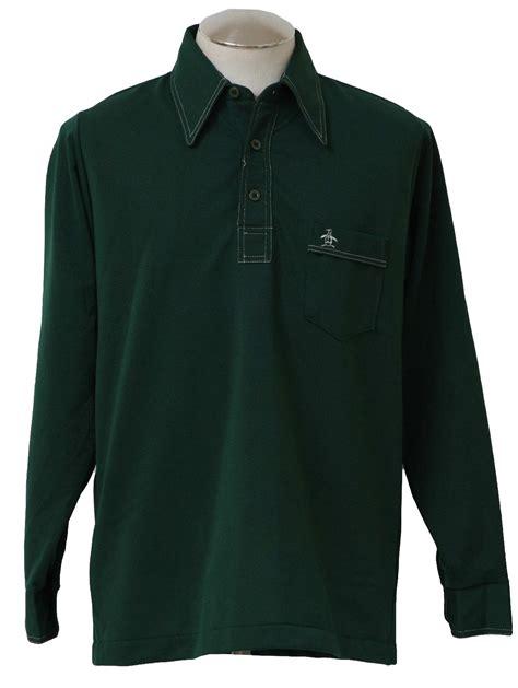 Sweater Grandsfam 70s retro knit shirt 70s grand slam mens forest green