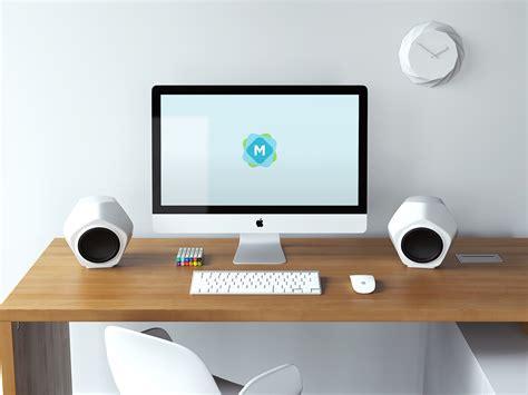imac desk retina imac creative desk mockup mockup templates