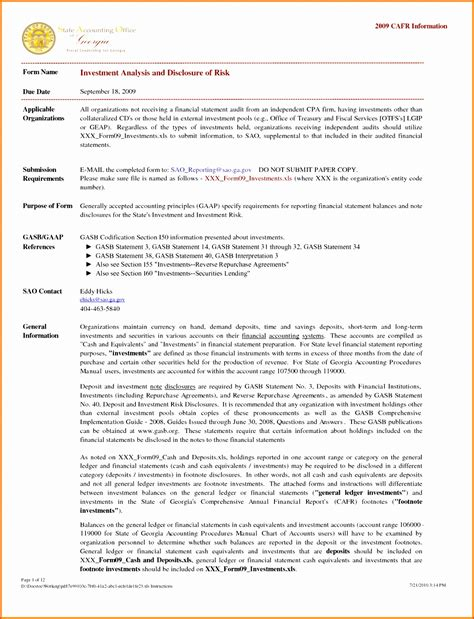 audited financial statements template