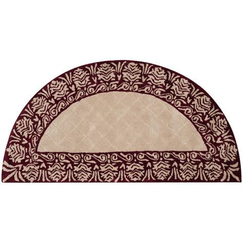 half rugs safavieh total performance ivory maroon 2 ft x 4 ft half moon area rug tlp755c 24hm the home