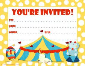 free printable invitations big top circus themed invite