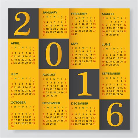 graphic design calendar 2016 calendar 2016 free vector download 1 585 free vector for