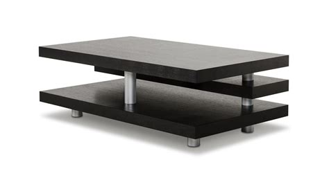 a x adrian modern multi tier black oak coffee table