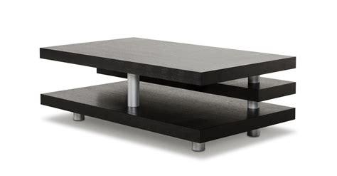 A&X Adrian Modern Multi Tier Black Oak Coffee Table