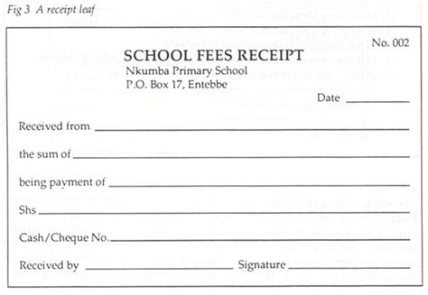fee receipt template printable schools fee receipt format template excel