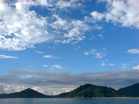 background laut langit gunung dan laut