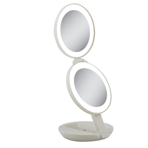home depot lighted mirror zadro generation led lighted travel mirror in