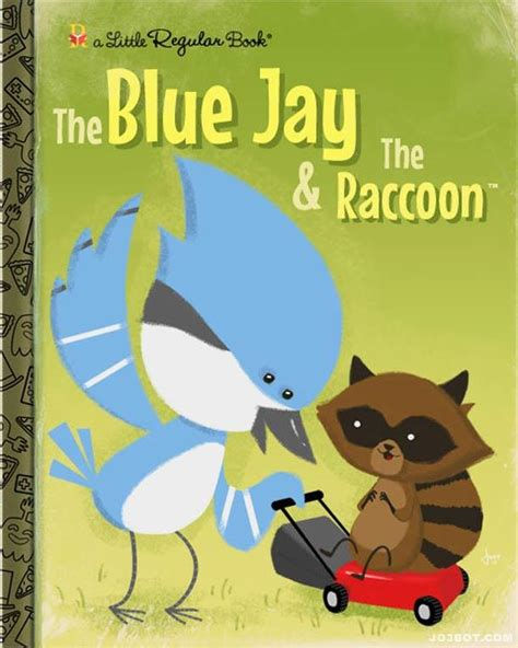 regularshow blue jay and rigby is the raccoon printable 22 adorable children s book and record cover parodies